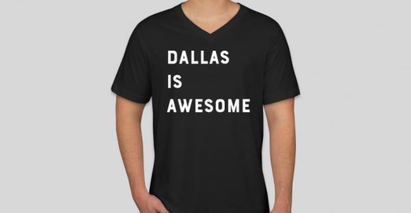 awesome dallas shirt black v-neck unisex